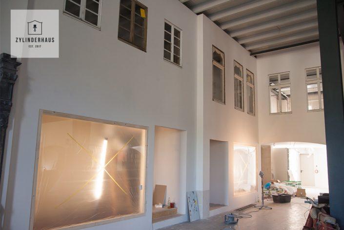 Baufortschritt Zylinderhaus Museum